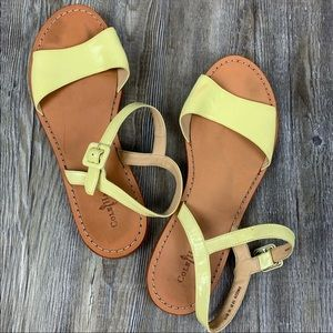 Cole Haan Lime Green Patent Leather Sandals SZ 10